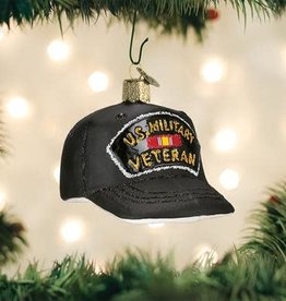 OLD WORLD CHRISTMAS veteran's cap ornament