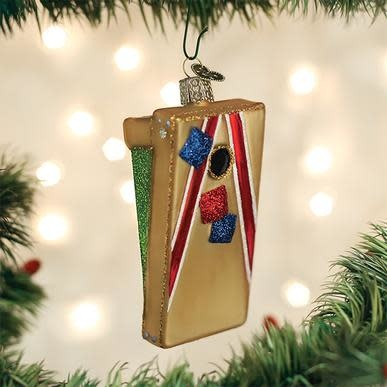 OLD WORLD CHRISTMAS corn hole game ornament