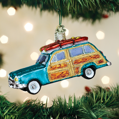 OLD WORLD CHRISTMAS surf's up wagon