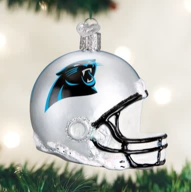 OLD WORLD CHRISTMAS carolina panthers helmet ornament