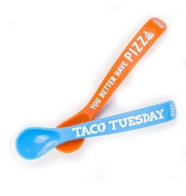 BELLA TUNNO wonder spoon set- feed me/taco tuesday/pizza
