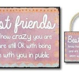 best friends...4.5x6 sign