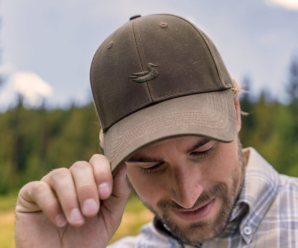 SOUTHERN MARSH vintage waxed hat- dk brown