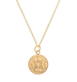 "ENEWTON 16"" necklace gold-blessing large gold charm"