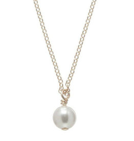 "ENEWTON 16"" necklace gold-clarity pearl charm"