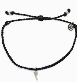 PURAVIDA silver lightning bitty braid- black