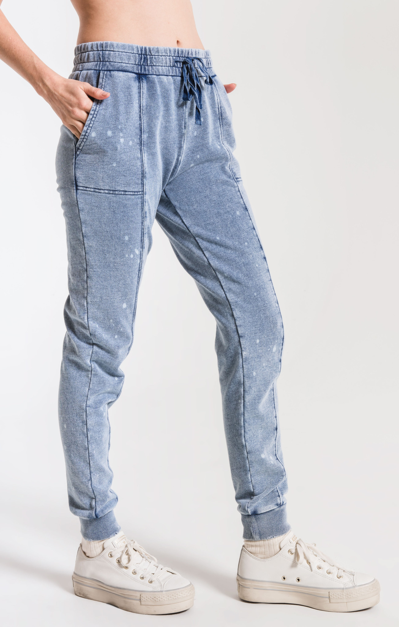 Z SUPPLY the knit denim bleach jogger