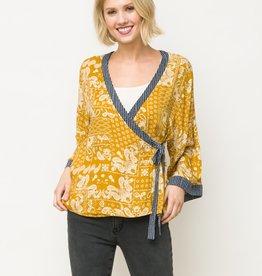 print kimono stye top