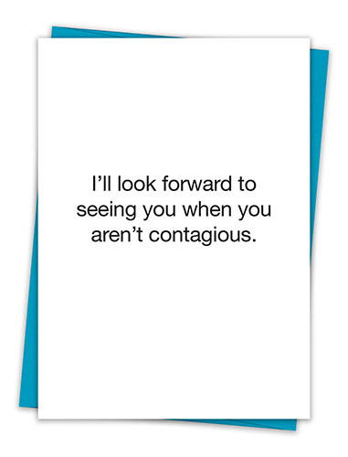 I LOOK FORWARD TO SEEING YOU CARD