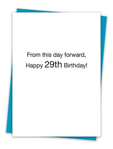 HAPPY 29TH CARD