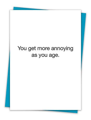 ANNOYING BIRTHDAY CARD
