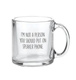 GLASS MUG- SPEAKER PHONE