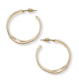 CANVAS cali large hoop earrings in worn gold
