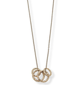 CANVAS lexi ring cluster necklace in worn gold