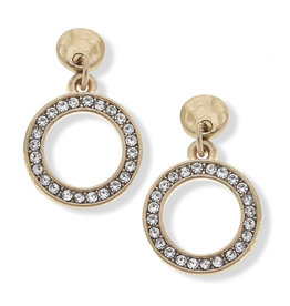 CANVAS valentina pave earrings in worn gold