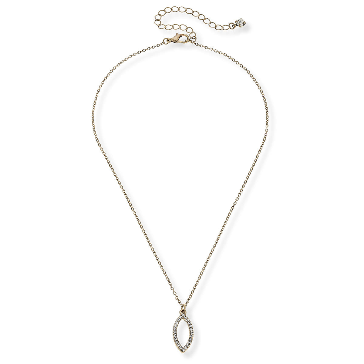 CANVAS lila pave necklace in worn gold