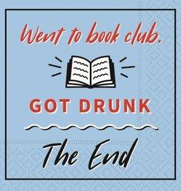 beverage napkin- book club