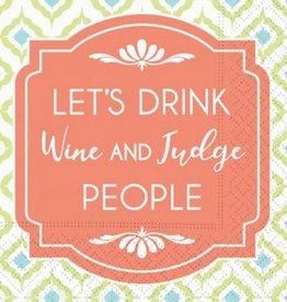 DESIGN DESIGN beverage napkin- wine & judge
