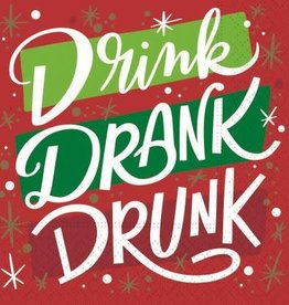 DESIGN DESIGN beverage napkin- drink drank drunk