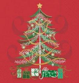 beverage napkin- Christmas tree swirl
