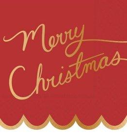 DESIGN DESIGN beverage napkin- Merry Christmas Script