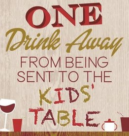 beverage napkin- the kid's table