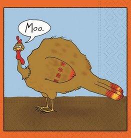 DESIGN DESIGN beverage napkin- moo turkey