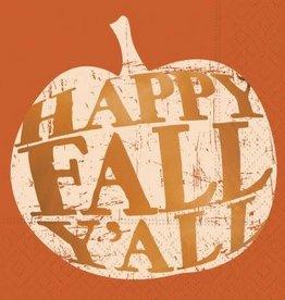 DESIGN DESIGN beverage napkin- happy fall ya'll