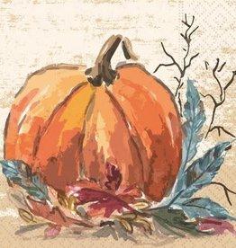 DESIGN DESIGN beverage napkin- pumpkin harvest