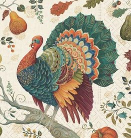 beverage napkin- bountiful turkey