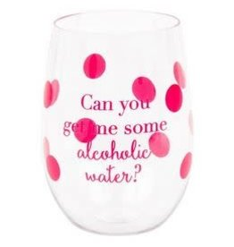 alcoholic water acrylic wine glass set