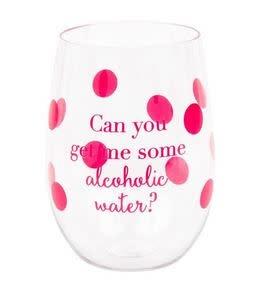 alcoholic water acrylic wine glass set
