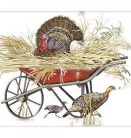turkey wheelbarrow bagged towel