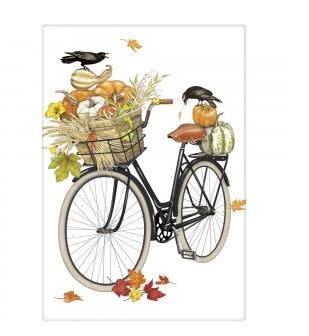 PUMPKIN BIKE FLOUR SACK TOWEL