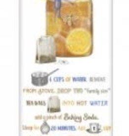 sweet lemon tea recipe flour sack towel