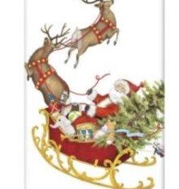 santas sleigh flour sack towel