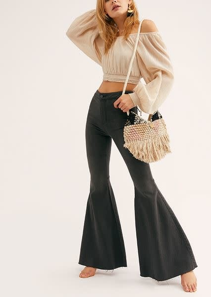 FREE PEOPLE JUST FLOAT ON FLARE-BLACK