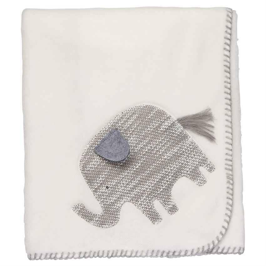 MUD PIE ELEPHANT FLEECE BLANKET