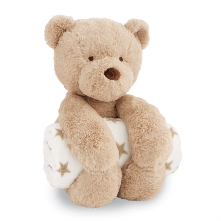 MUD PIE PLUSH BEAR WITH BLANKET