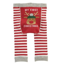 MUD PIE CHRISTMAS KNITTED LEGGINGS 0-6 MONTHS