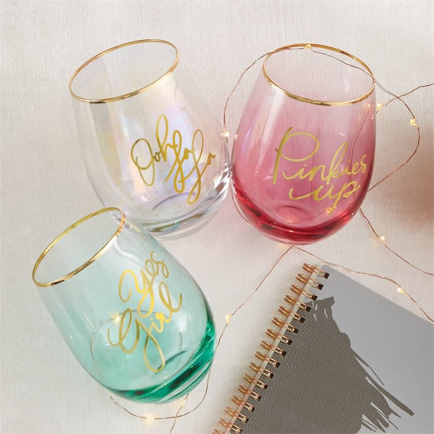 MUD PIE SENTIMENT WINE GLASS