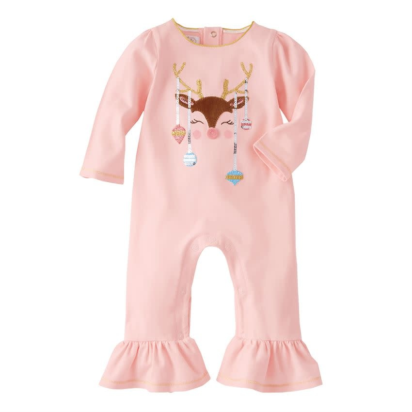 MUD PIE REINDEER & ORNAMENT ONE-PIECE
