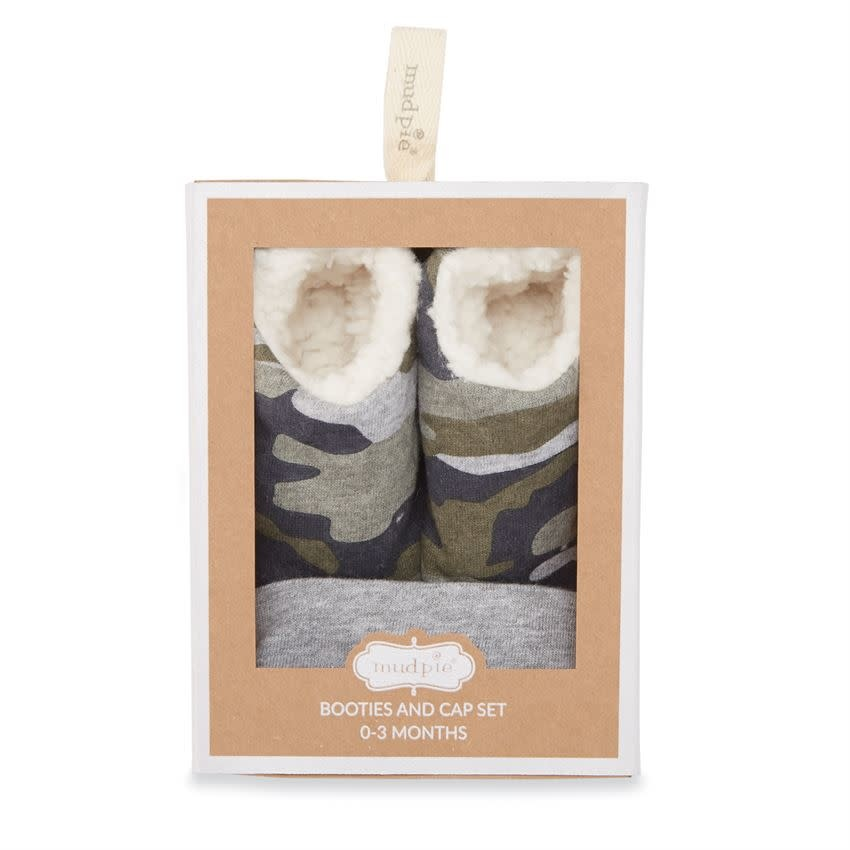 MUD PIE Camo Cap & Booties Set