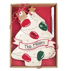 MUD PIE personalized tree plate set