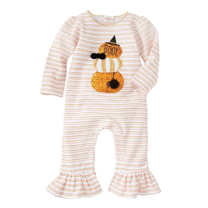 MUD PIE girl stacked pumpkin one-piece