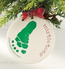 MUD PIE mistletoes ornament stamping set