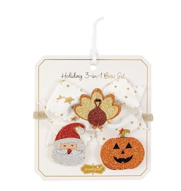 MUD PIE HOLIDAY 3-IN-ONE BOW SET
