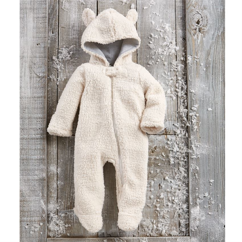 MUD PIE SHERPA BEAR BUNTING