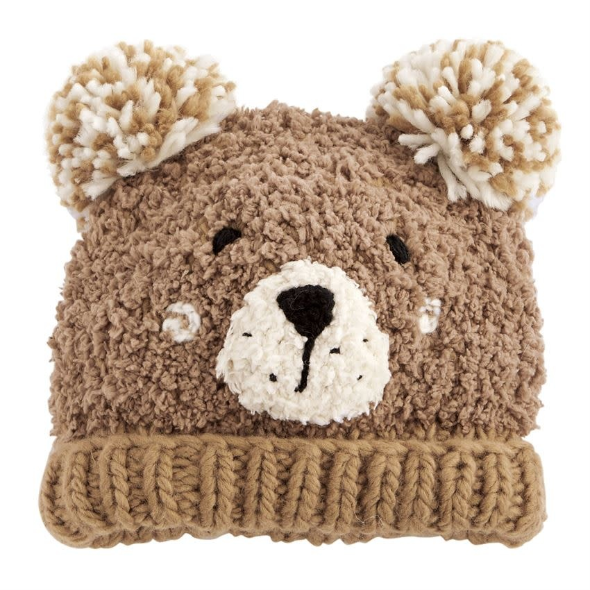 MUD PIE BROWN BEAR KNITTED HAT