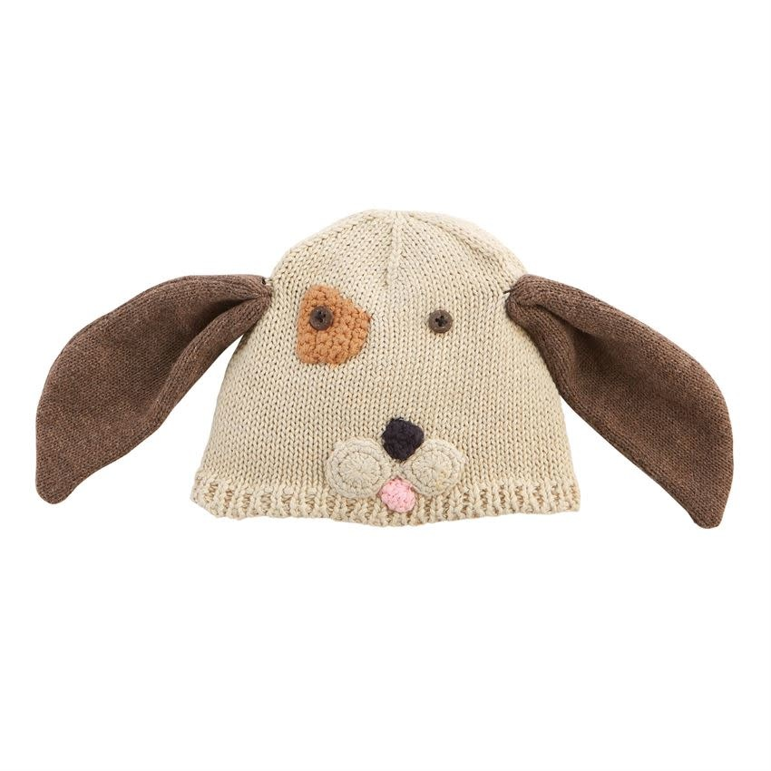 MUD PIE PUPPY KNIT HAT 6-18 MONTHS